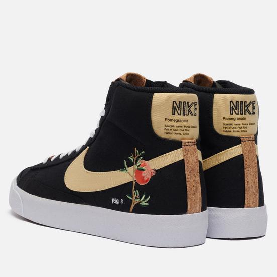 Мужские кроссовки Nike Blazer Mid 77 Pomegranate Black/Solar Flare/White/Black