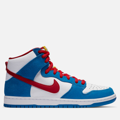 Мужские кроссовки Nike SB Dunk High Pro ISO Doraemon Light Photo Blue/University Red