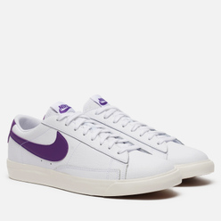 Мужские кроссовки Nike Blazer Low Leather White/Voltage Purple/Sail