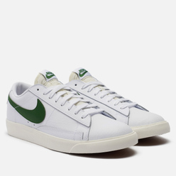 Мужские кроссовки Nike Blazer Low Leather White/Sail/Forest Green