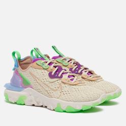 Женские кроссовки Nike React Vision Fossil/Vachetta Tan/Vivid Purple