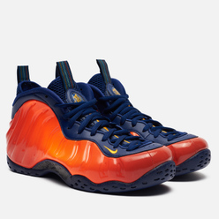 Мужские кроссовки Nike Air Foamposite One Blue Void/University Gold/Rugged Orange
