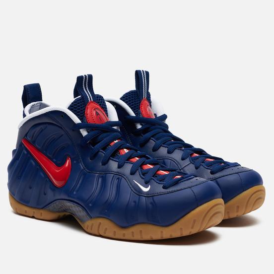 Мужские кроссовки Nike Air Foamposite Pro Blue Void/University Red/Gum Light Brown