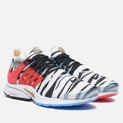 Кроссовки Nike Air Presto South Korea White/Metallic Gold/Black/Red Orbit
