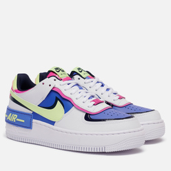 Женские кроссовки Nike Air Force 1 Shadow White/Barely Volt/Sapphire/Fire Pink