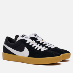Мужские кроссовки Nike SB Bruin React Black/White/Black/Gum Light Brown
