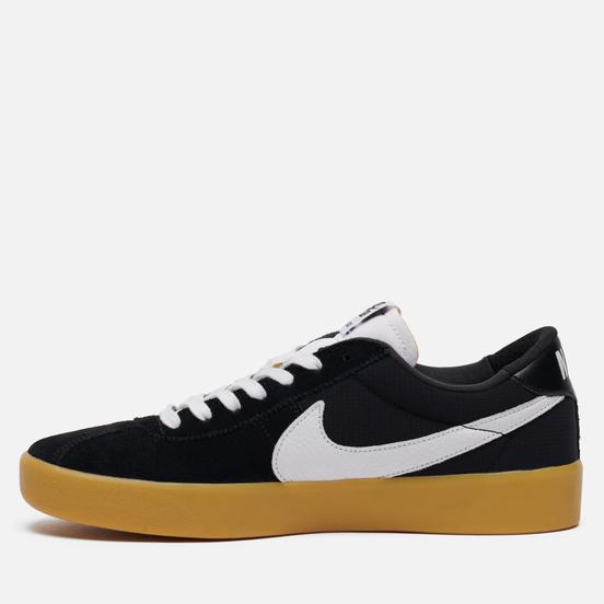 Мужские кроссовки Nike SB Bruin React Black/White/Black/Gum Light Brown