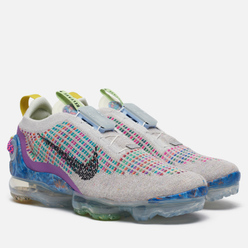Женские кроссовки Nike Air Vapormax 2020 Flyknit Pure Platinum/Black/Multicolor
