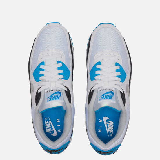 Мужские кроссовки Nike Air Max III White/Black/Grey Fog/Laser Blue
