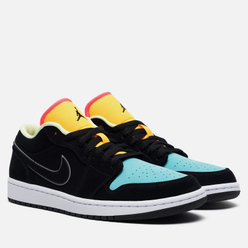 Мужские кроссовки Jordan Air Jordan 1 Low SE Black/Black/Aurora Green/Laser Orange