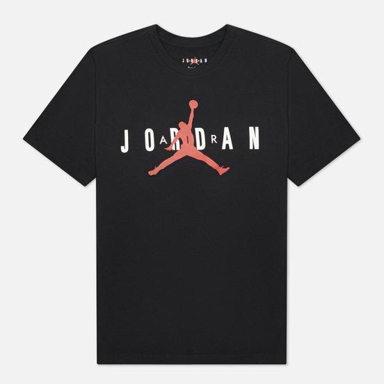 Мужская футболка Jordan Air Wordmark Black/White/Gym Red