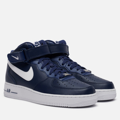 Мужские кроссовки Nike Air Force 1 Mid 07 AN20 Midnight Navy/White