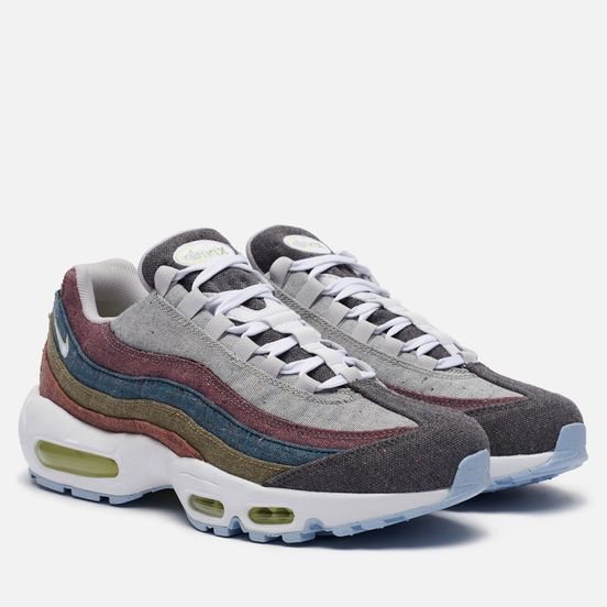 Мужские кроссовки Nike Air Max 95 Recycled Canvas Vast Grey/White/Barely Volt