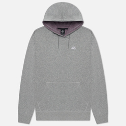 Мужская толстовка Nike SB Skate Hoodie Dark Grey Heather/White