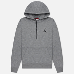 Мужская толстовка Jordan Jumpman Air Fleece Hoodie Carbon Heather/Carbon Heather/Black