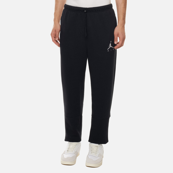 Мужские брюки Jordan Jumpman Air Fleece Black/Black/Black/White