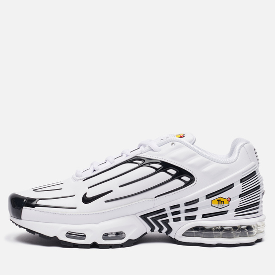 Мужские кроссовки Nike Air Max Plus III Leather White/Black/White/Chile Red