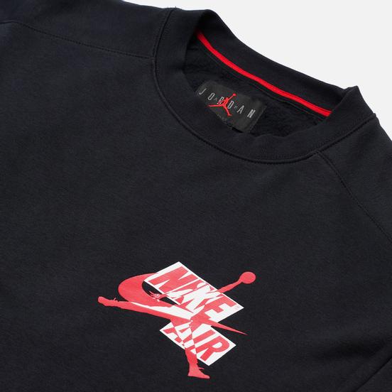 Мужская толстовка Jordan Jumpman Fleece Crew Black/Black/Black