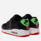 Женские кроссовки Nike Wmns Air Max 90 Worldwide Pack Black/Black/Flash Crimson/Green Strike фото - 2