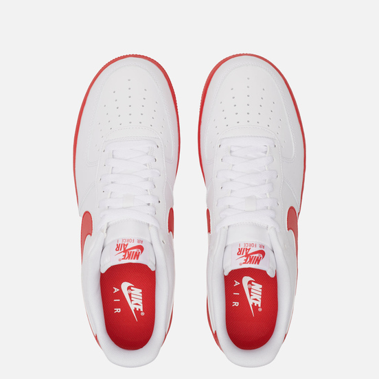 Мужские кроссовки Nike Air Force 1 Low Midsole White/University Red/White