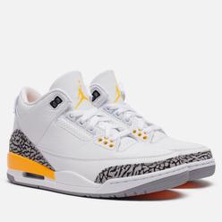 Женские кроссовки Jordan Air Jordan 3 Retro Laser Orange White/Black/Laser Orange/Cement Grey