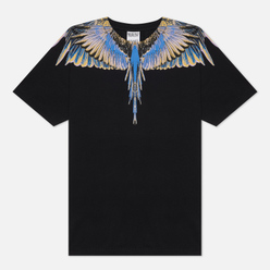 Мужская футболка Marcelo Burlon Wings Basic Black/Pink
