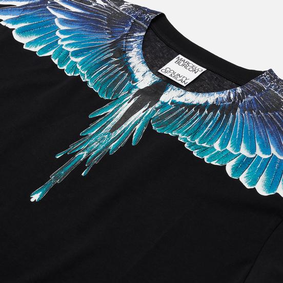 Мужская футболка Marcelo Burlon Wings Basic Black/Turquoise