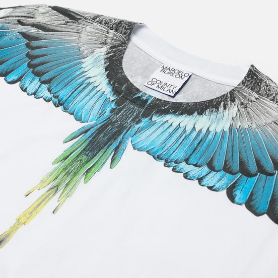 Мужская футболка Marcelo Burlon Wings Regular White/Light Blue