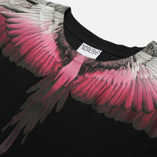 Мужская футболка Marcelo Burlon Wings Regular Black/Fuchsia