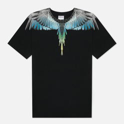 Мужская футболка Marcelo Burlon Wings Regular Black/Light Blue