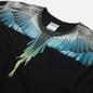Мужская футболка Marcelo Burlon Wings Regular Black/Light Blue фото - 1