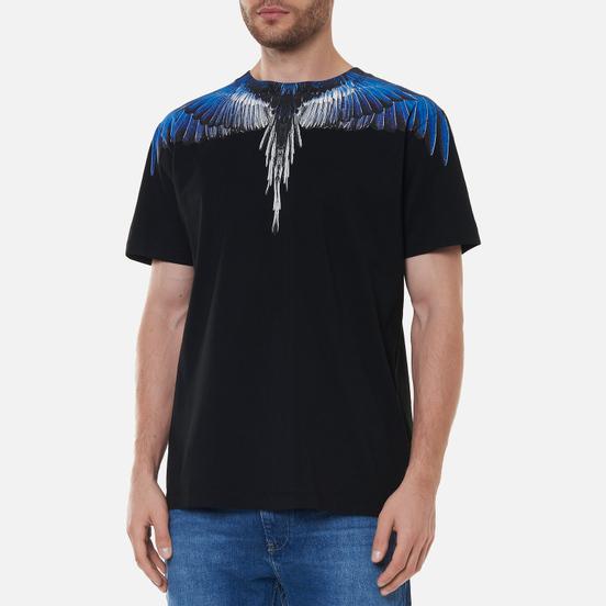 Мужская футболка Marcelo Burlon Wings Regular Black/Blue