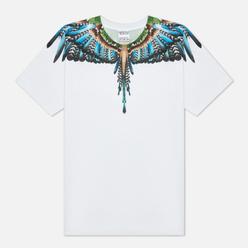 Мужская футболка Marcelo Burlon Grizzly Wings Regular Crewneck White/Light Blue