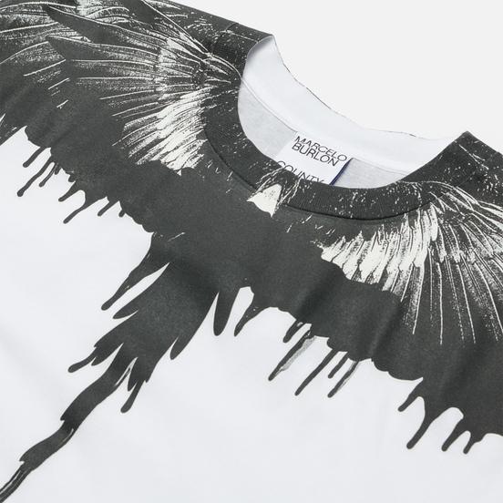Мужская футболка Marcelo Burlon Tar Wings Regular White/Black