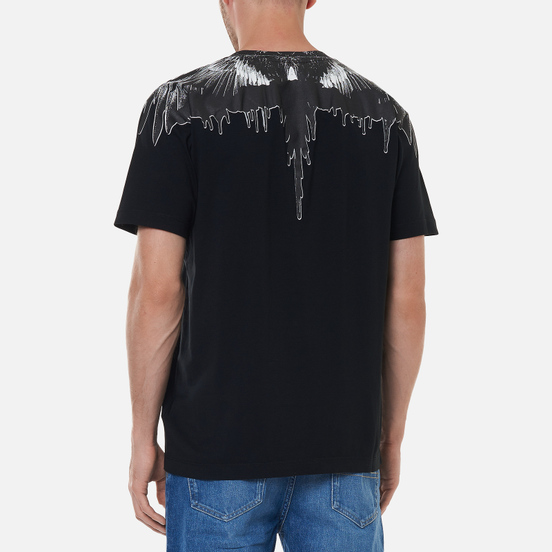 Мужская футболка Marcelo Burlon Tar Wings Regular Black/Black