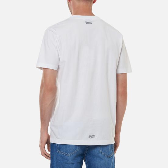 Мужская футболка Marcelo Burlon Cross Wolf Regular White/Grey