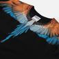 Мужская футболка Marcelo Burlon Wings Regular Black/Orange фото - 1