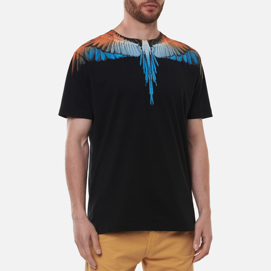 Мужская футболка Marcelo Burlon Wings Regular Black/Orange