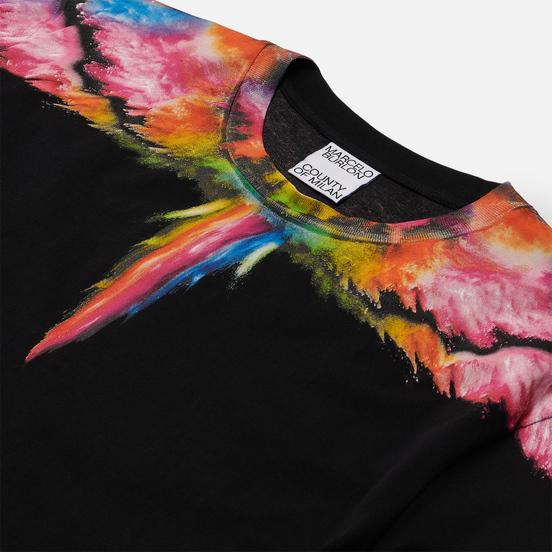 Мужская футболка Marcelo Burlon Colordust Wings Regular Black/Multicolor