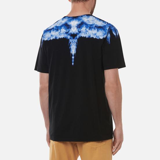 Мужская футболка Marcelo Burlon Smoke Wings Regular Black/DustyBlue