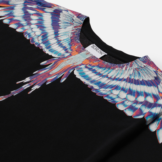 Мужская футболка Marcelo Burlon Birds Wings Regular Black/Light Blue