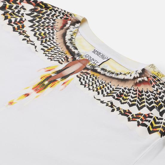 Мужская футболка Marcelo Burlon Grizzly Wings Regular White/Yellow