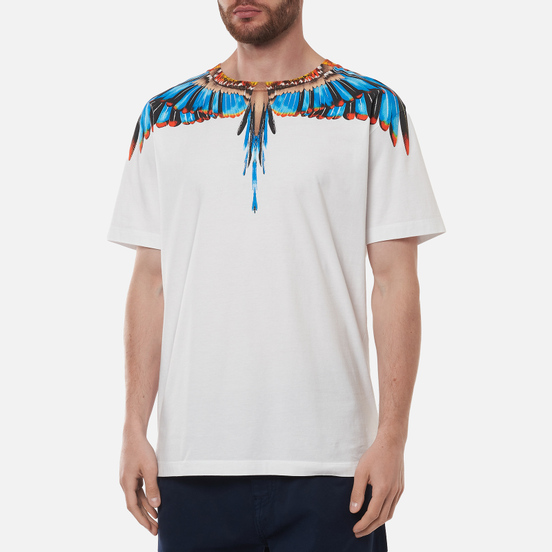 Мужская футболка Marcelo Burlon Grizzly Wings Regular White/Light Blue