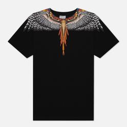 Мужская футболка Marcelo Burlon Grizzly Wings Regular Black/Orange