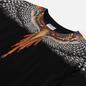 Мужская футболка Marcelo Burlon Grizzly Wings Regular Black/Orange фото - 1
