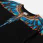 Мужская футболка Marcelo Burlon Grizzly Wings Regular Black/Light Blue фото - 1
