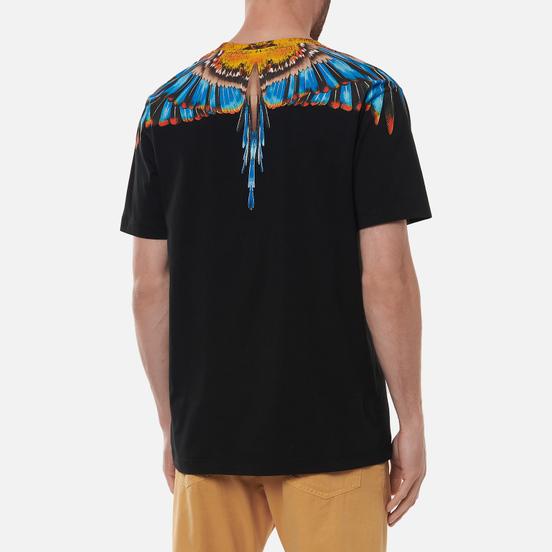 Мужская футболка Marcelo Burlon Grizzly Wings Regular Black/Light Blue