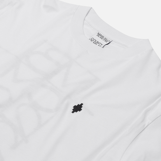 Мужская футболка Marcelo Burlon MBCM Over White/Black
