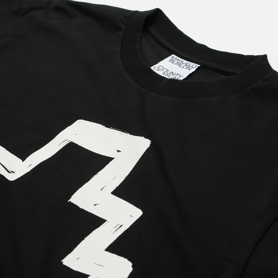 Мужская футболка Marcelo Burlon Tempera Cross Over Black/White