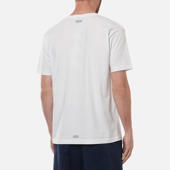 Мужская футболка Marcelo Burlon Cross Basic Neck White/Black